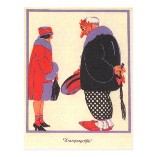 Krampus & Date Postcard