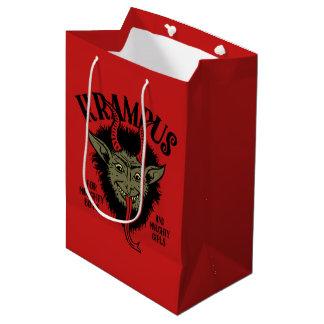 Krampus Face Naughty Gift Bag