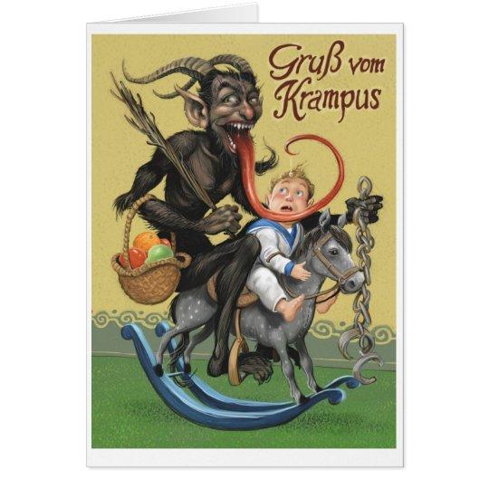 Krampus Greeting Card