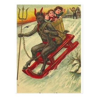 Krampus & His Trident Postcard