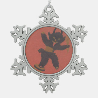 Krampus Jack-In-The-Box Snowflake Pewter Christmas Ornament