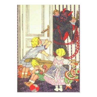 Krampus Kidnapping Bad Children 13 Cm X 18 Cm Invitation Card