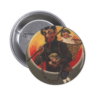 Krampus Kidnapping Boy & Girl 6 Cm Round Badge