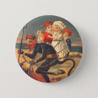 Krampus Kidnapping Children 6 Cm Round Badge