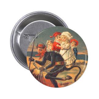 Krampus Kidnapping Children 6 Cm Round Badge