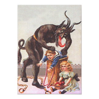 Krampus Kidnapping Children Card