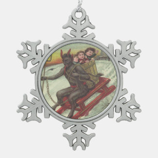 Krampus Kidnapping Children On Toboggan Ornament