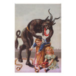 Krampus Kidnapping Children Poster
