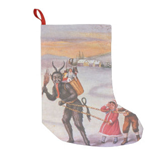 Krampus Kidnapping Children Toys Switch Small Christmas Stocking