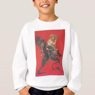 Krampus Kidnapping Girl Sweatshirt