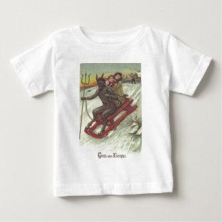 Krampus Kidnapping Kids On Sleigh Baby T-Shirt