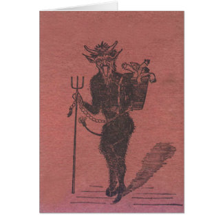 Krampus Kidnapping People Greeting Card
