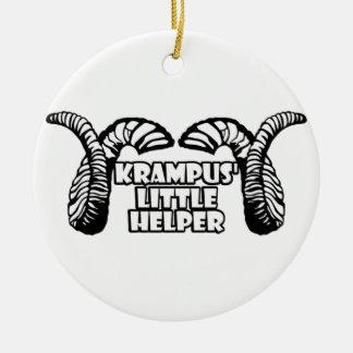 Krampus' Little Helper Round Ceramic Decoration