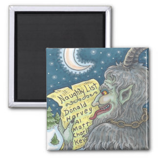 KRAMPUS NAUGHTY LIST Christmas MAGNET Customise