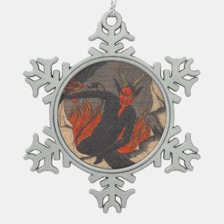 Krampus Pewter Snowflake Decoration