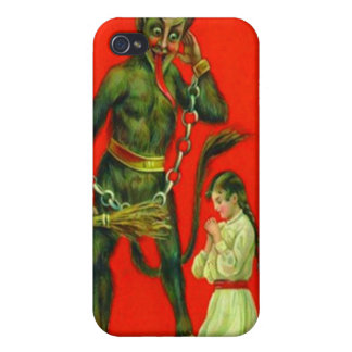 Krampus Punishing A Bad Girl iPhone 4/4S Covers