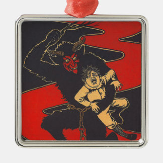 Krampus Punishing Child With Switch Ornament