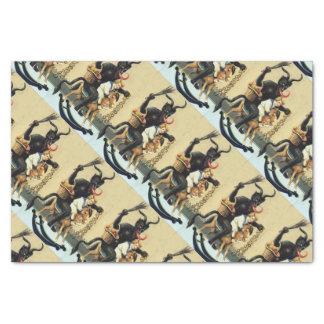 Krampus Rocking Horse Demon Holiday Christmas Xmas Tissue Paper