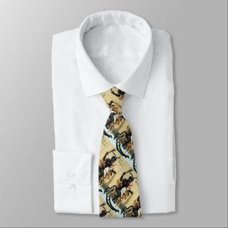 Krampus Rocking Horse Holiday Christmas Necktie