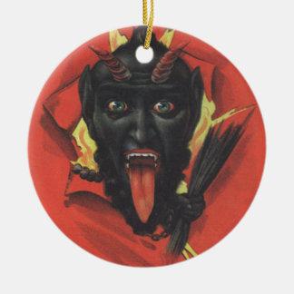 Krampus Round Ceramic Decoration