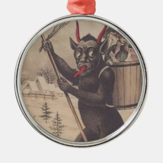 Krampus Skiing Kidnapping Women Christmas Ornament