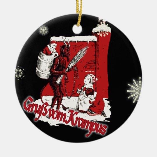 Krampus Snow Day Christmas Ornament