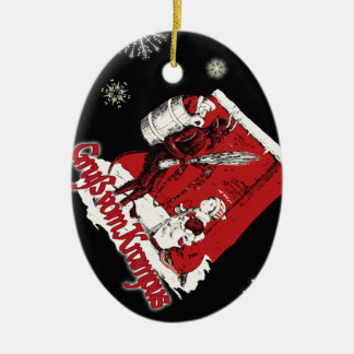 Krampus Snow Day Christmas Ornament