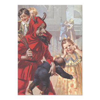 Krampus Spanking Bad Child 13 Cm X 18 Cm Invitation Card