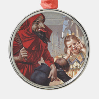Krampus Spanking Child Christmas Ornament