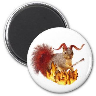 Krampus Squirrel Magnet