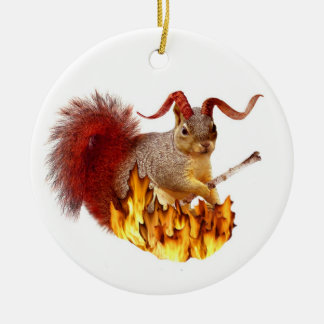 Krampus Squirrel Ornament
