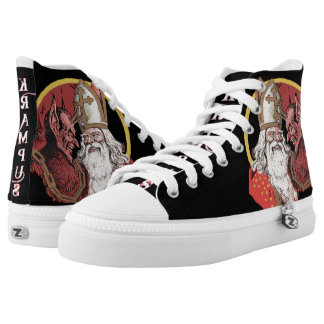 Krampus & St. Nick High Tops Printed Shoes