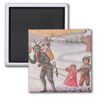 Krampus Stealing Toys & Children Magnet
