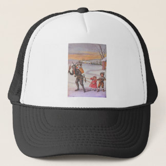 Krampus Stealing Toys & Children Trucker Hat