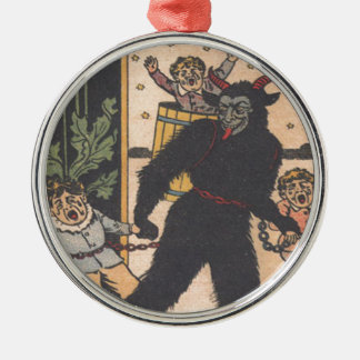 Krampus Taking Away Bad Children Christmas Ornament