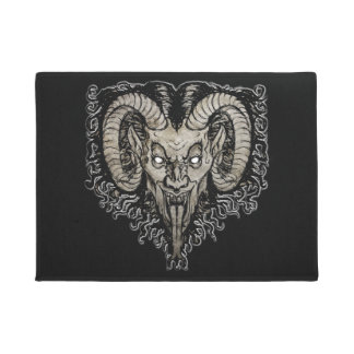 Krampus Welcome Mat