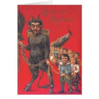 Krampus With Bad Children Greeting Card