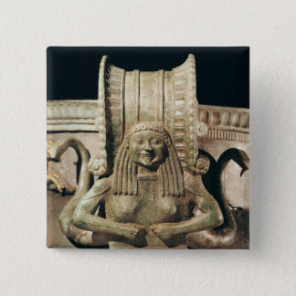 Krater, detail of the handle 15 cm square badge