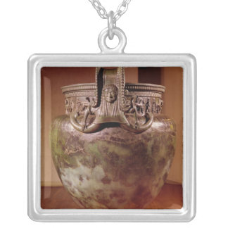 Krater, from the Tomb of a Princess of Vix Silver Plated Necklace