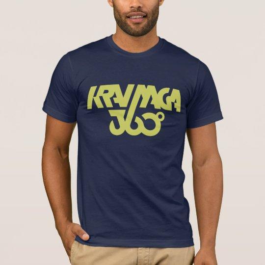 Krav Maga 360 - dark blue/yellow T-Shirt