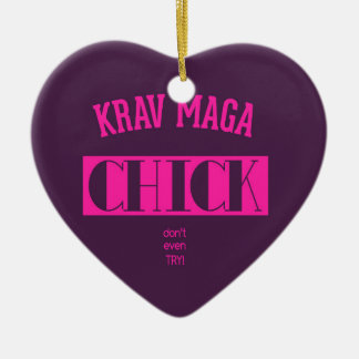 Krav Maga Chick - Dont even try Christmas Ornament