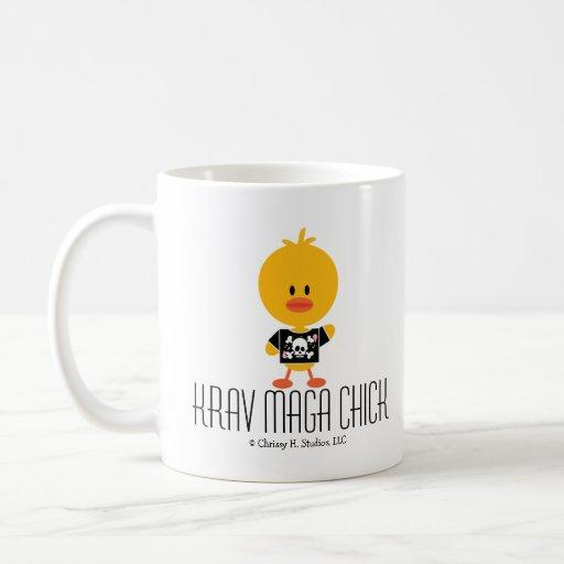 KRAV MAGA CHICK COFFEE MUGS