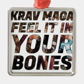 Krav Maga feel it in your bones Christmas Ornament