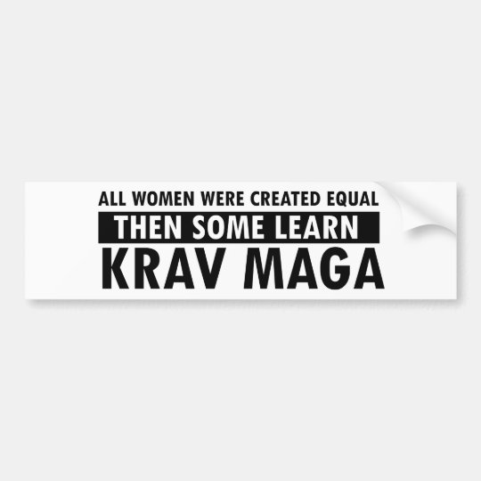 Krav Maga gift items Bumper Sticker