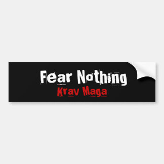 Krav Maga martial arts bumpersticker Bumper Sticker