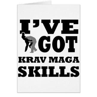 Krav Maga Martial Arts designs Greeting Card