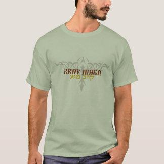 Krav Maga Silver Tattoo Hebrew T-Shirt