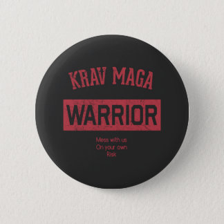 Krav Maga Warrior 6 Cm Round Badge