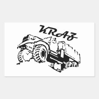 Kraz - The Soviet Russian Truck Rectangular Sticker