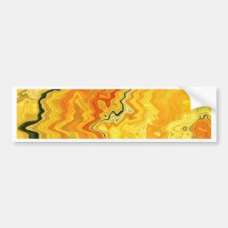 Krazy Yellow Bumper Sticker